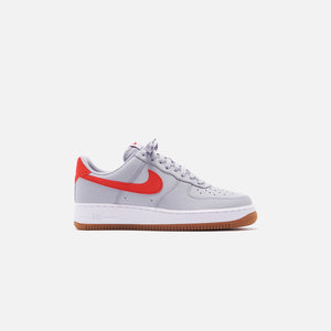Nike Air Force 1 '07 LV8 Low - Wolf Grey / University Red / White Gum Image 1