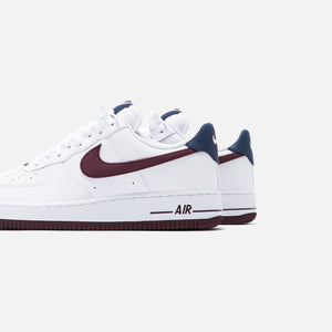 Nike Air Force 1 07 Lv8 Low White Night Maroon Obsidian Kith