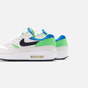 Nike Air Max 1 DNA - White / Black / Royal Blue / Scream Image 4