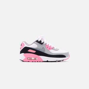 Nike Grade School Air Max 90 - White / Particle Grey / Rose Image 1