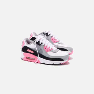 Nike Grade School Air Max 90 - White / Particle Grey / Rose Image 5
