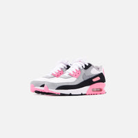 Nike Grade School Air Max 90 - White / Particle Grey / Rose Thumbnail 3