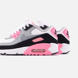 Nike Grade School Air Max 90 - White / Particle Grey / Rose Image 4