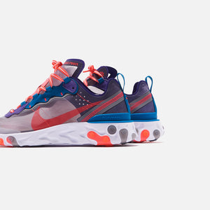 Nike React Element 87 - Black / Red Orbit / White / Green Abyss Image 4