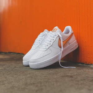 fca07276afbd9 Nike Air Force 1  07 LV8 3 - White   Orange Peel