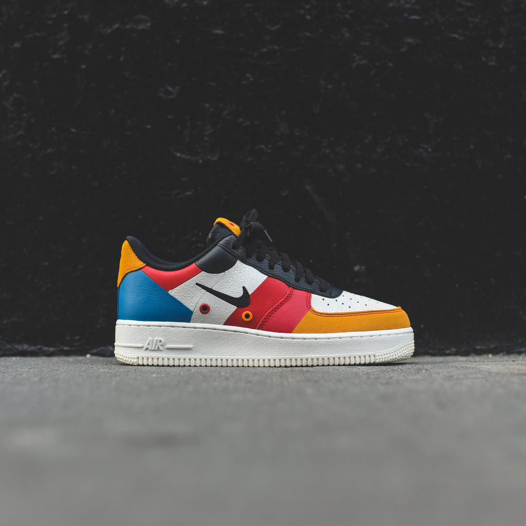Nike Air Force 1 '07 PRM 1FA19 Sial Black Imperial Blue Amber Rise