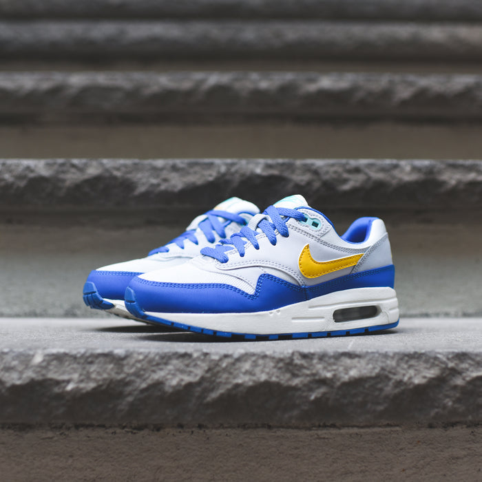 Nike Grade School Air Max 1 - Sail / Amarillo / Pure Platinum / Signal Blue