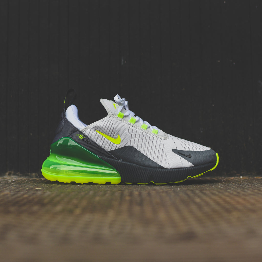 newest aab88 ded92 Nike Air Max 270 - Platinum Tint / Volt / Dark Grey / Anthracite