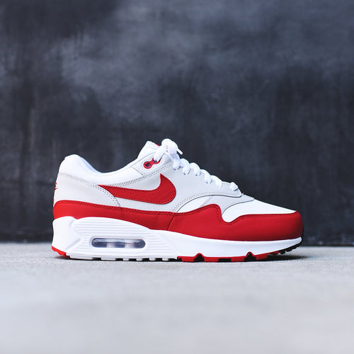 4a6db6247c5d ... Nike WMNS Air Max 90 1 - White   University Red   Neutral Grey ...