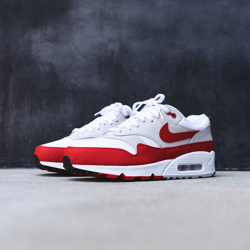 Nike Air Max 90/1 - White / University Red / Neutral Grey / Black