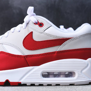 buy online 8e4d6 75972 Nike WMNS Air Max 90 1 - White   University Red   Neutral Grey