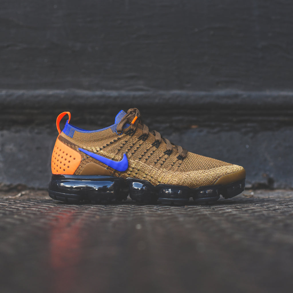 official photos 0298a 95bfd Nike Air VaporMax FK 2 - Golden Beige   Racer Blue   Club Gold – Kith