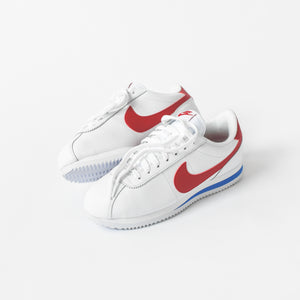 new product 28a59 2ab7d Nike Cortez Basic Leather OG - Blue   White   Red