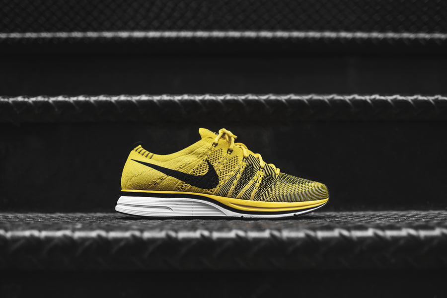 NikeLab Flyknit Trainer QS - Citron / Black / White