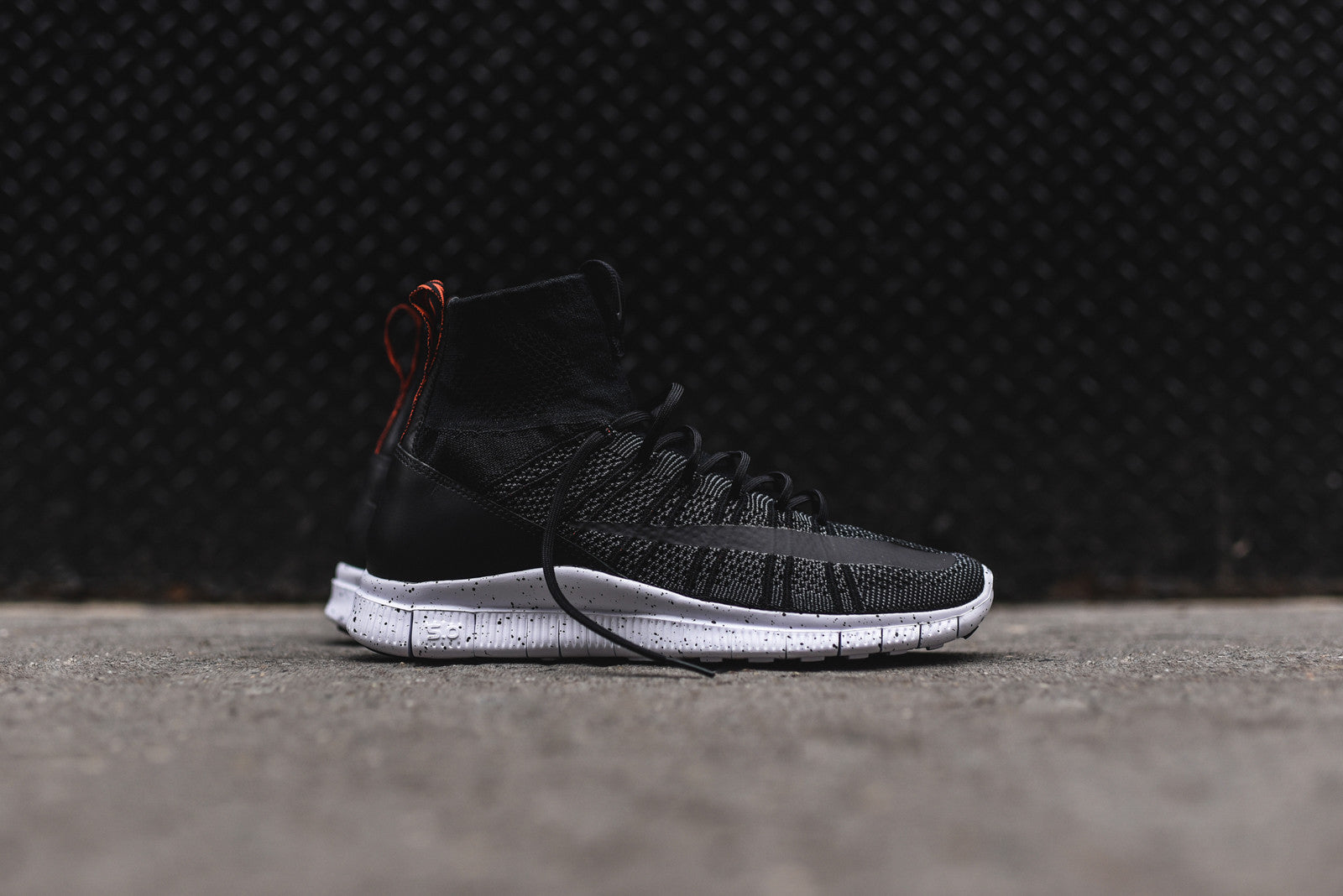 Nike Free Flyknit Mercurial - Black / Team Orange