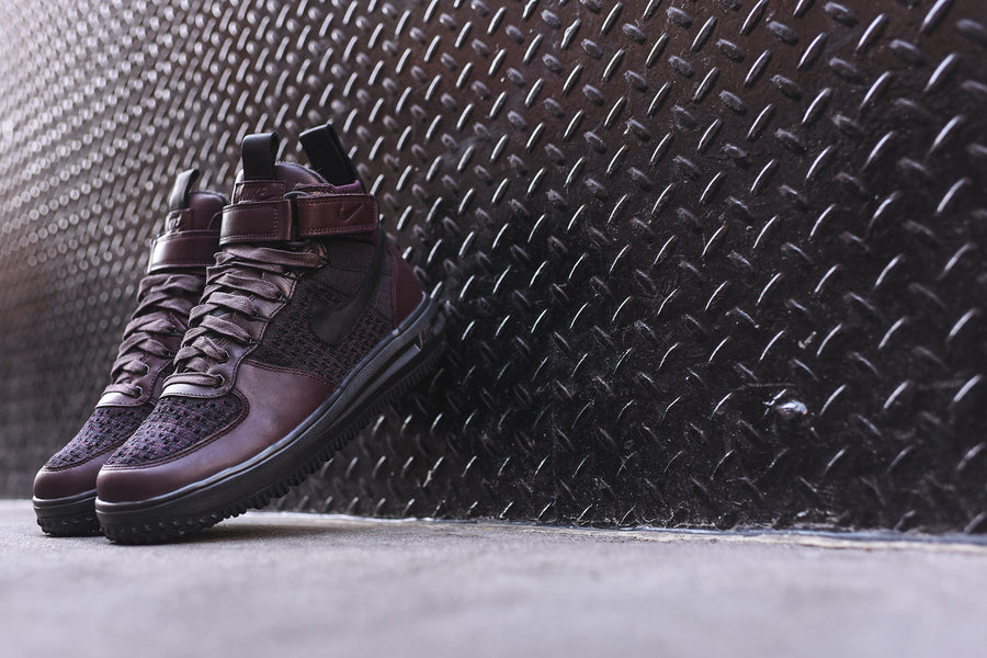 Nike Lunar Force 1 Flyknit Workboot - Burgundy
