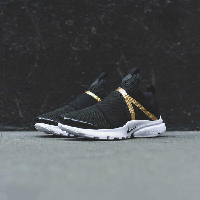 Nike Pre-School Presto Extreme - Black / Metallic Gold / White