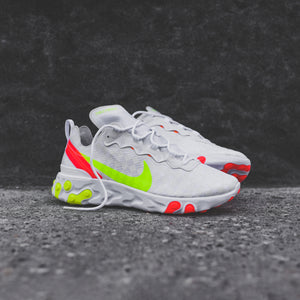the best attitude website for discount online retailer Nike React Element 55 - White / Red / Volt - 12