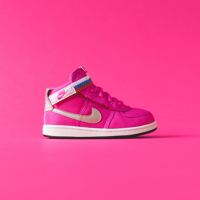 Nike Toddler Vandal High Supreme - Fuchsia Blast / Metallic Silver
