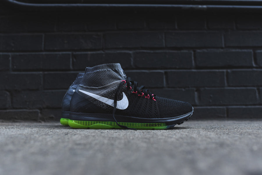 Nike Air Zoom All Out Flyknit - Black / Cool Grey / Volt