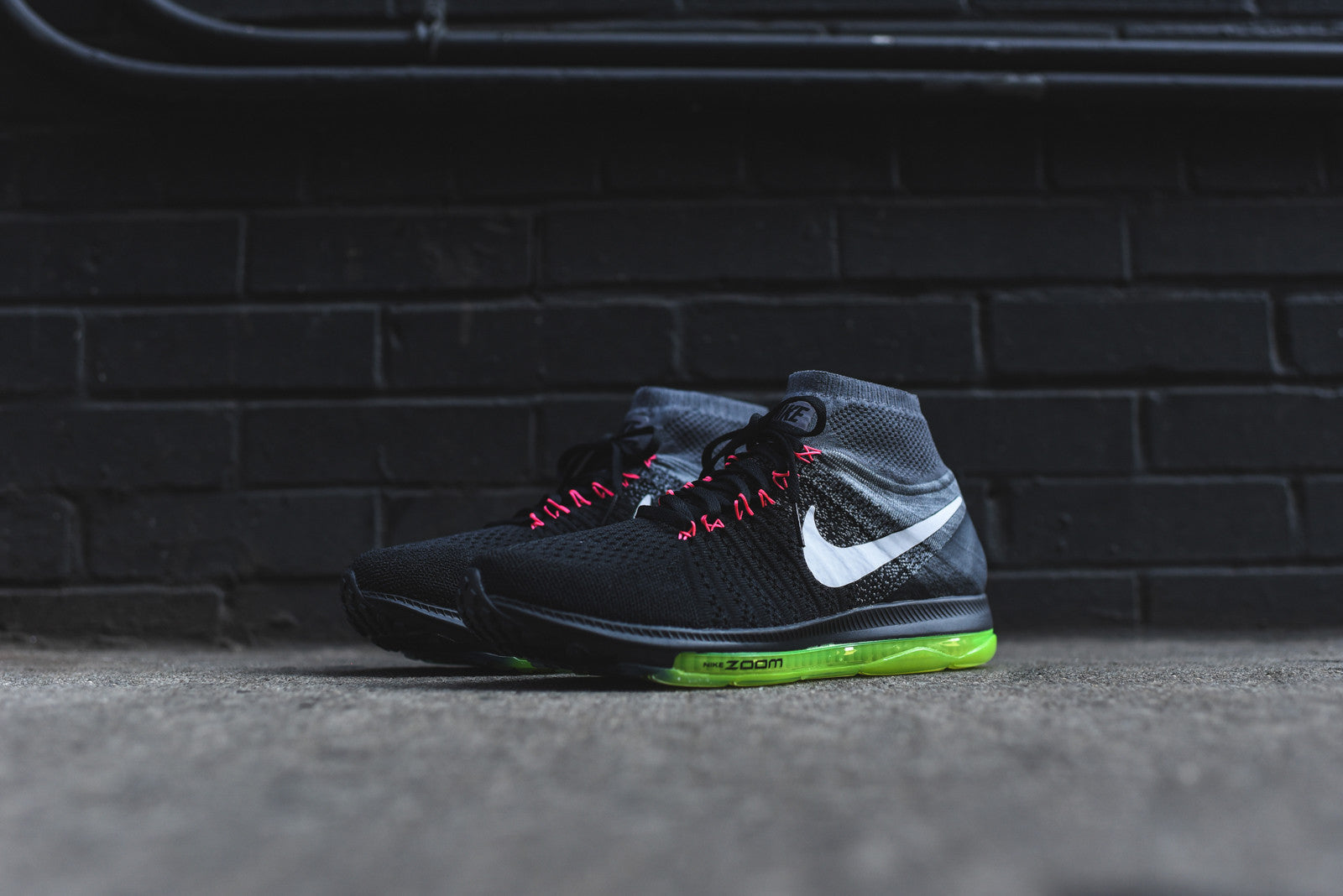 Nike WMNS Air Zoom All Out Flyknit - Black / Cool Grey / Volt