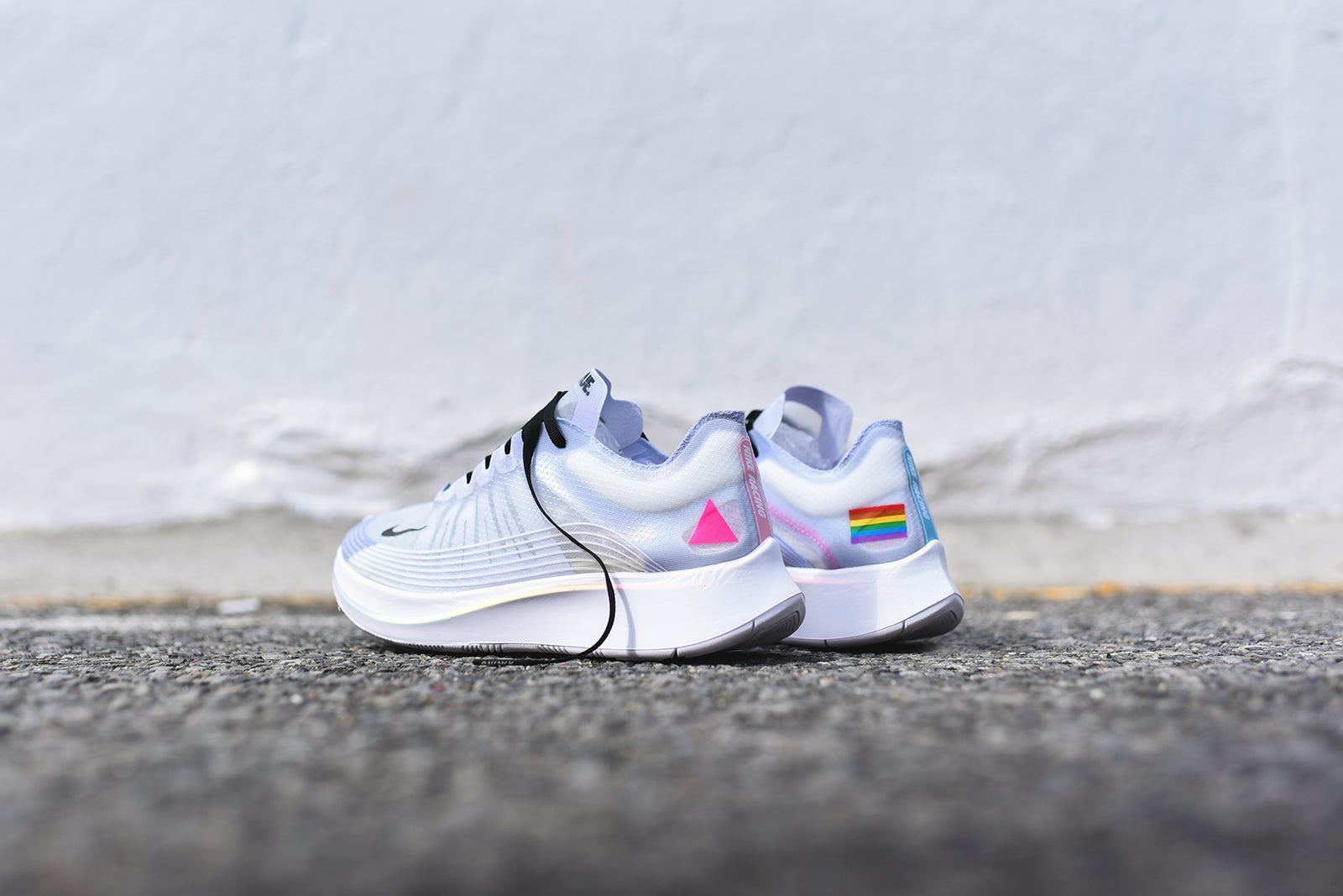 Nike Zoom Fly BE TRUE - White / Black / Palest Purple