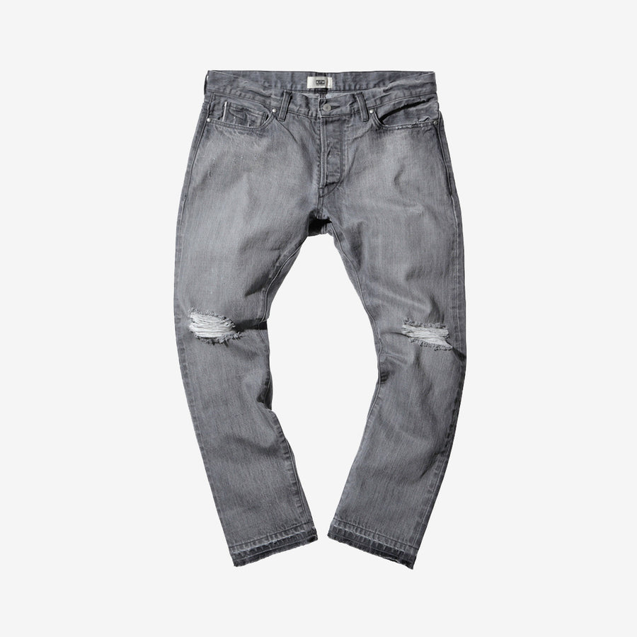 Kith x Ones Stroke Distressed Denim - Grey