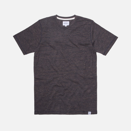Norse Projects James Contrast Melange Tee - Grey