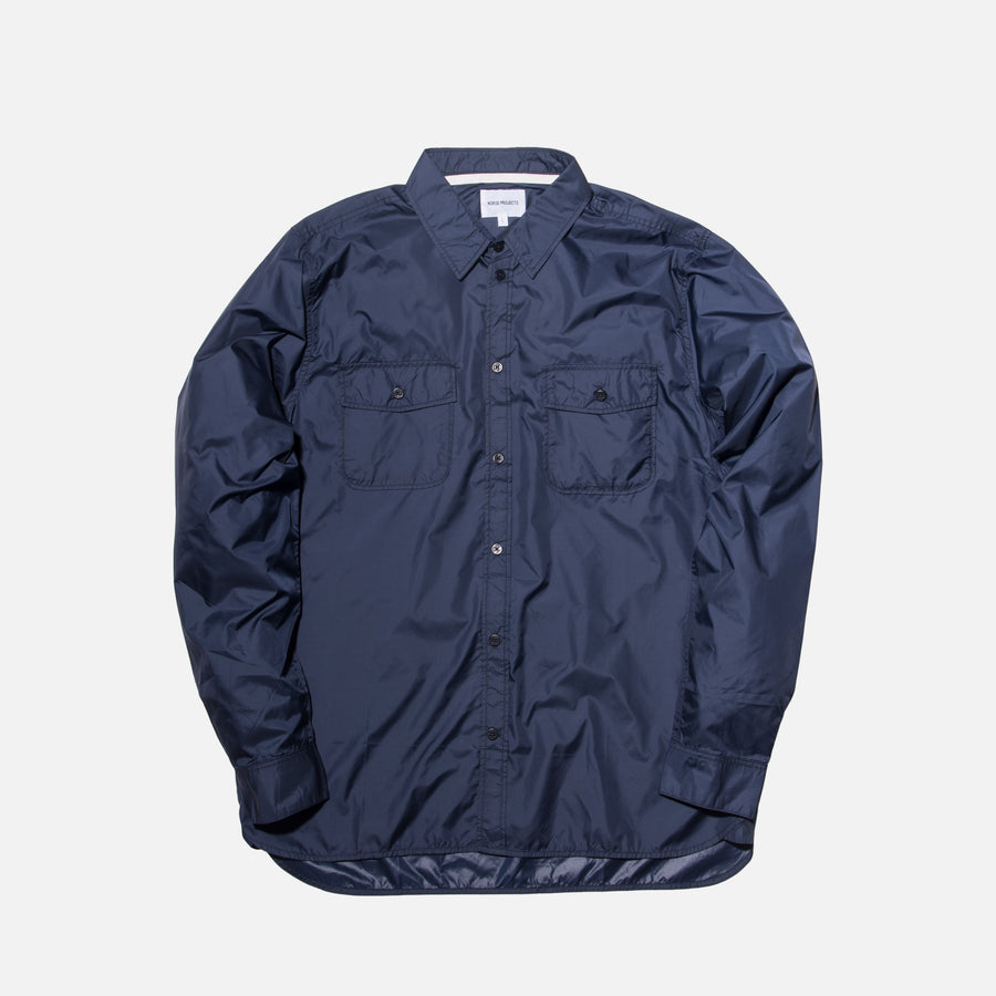 Norse Projects Hans Ripstop Shirt - Navy