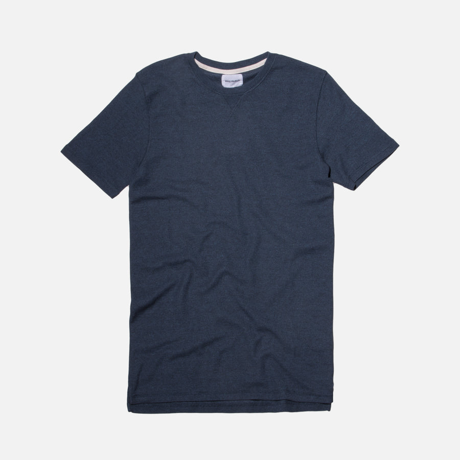 Norse Projects Niels Sport Waffle Tee - Navy