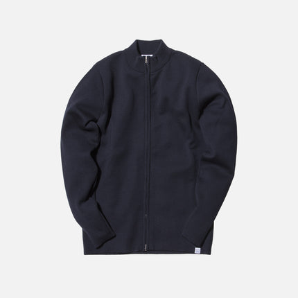 Norse Projects Sigfred Merino Zip-Up Jacket - Navy