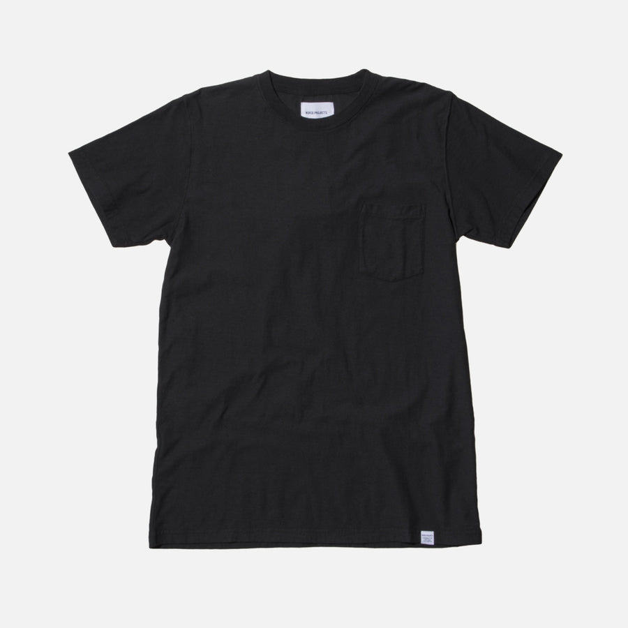 Norse Projects Niels Pocket Boucle Tee - Black