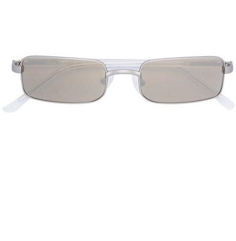 Dries Van Noten Rectangle Sunglasses - Silver