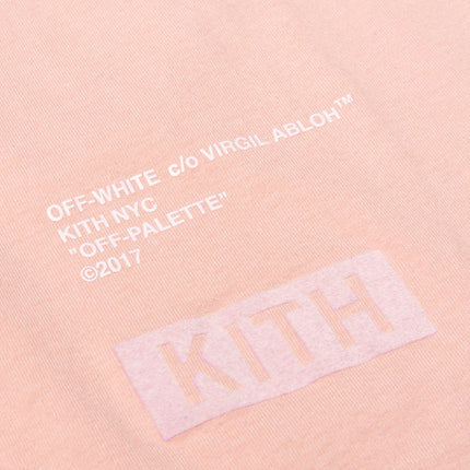 Kith x Off-White Flocked L/S Tee - Soft Pink