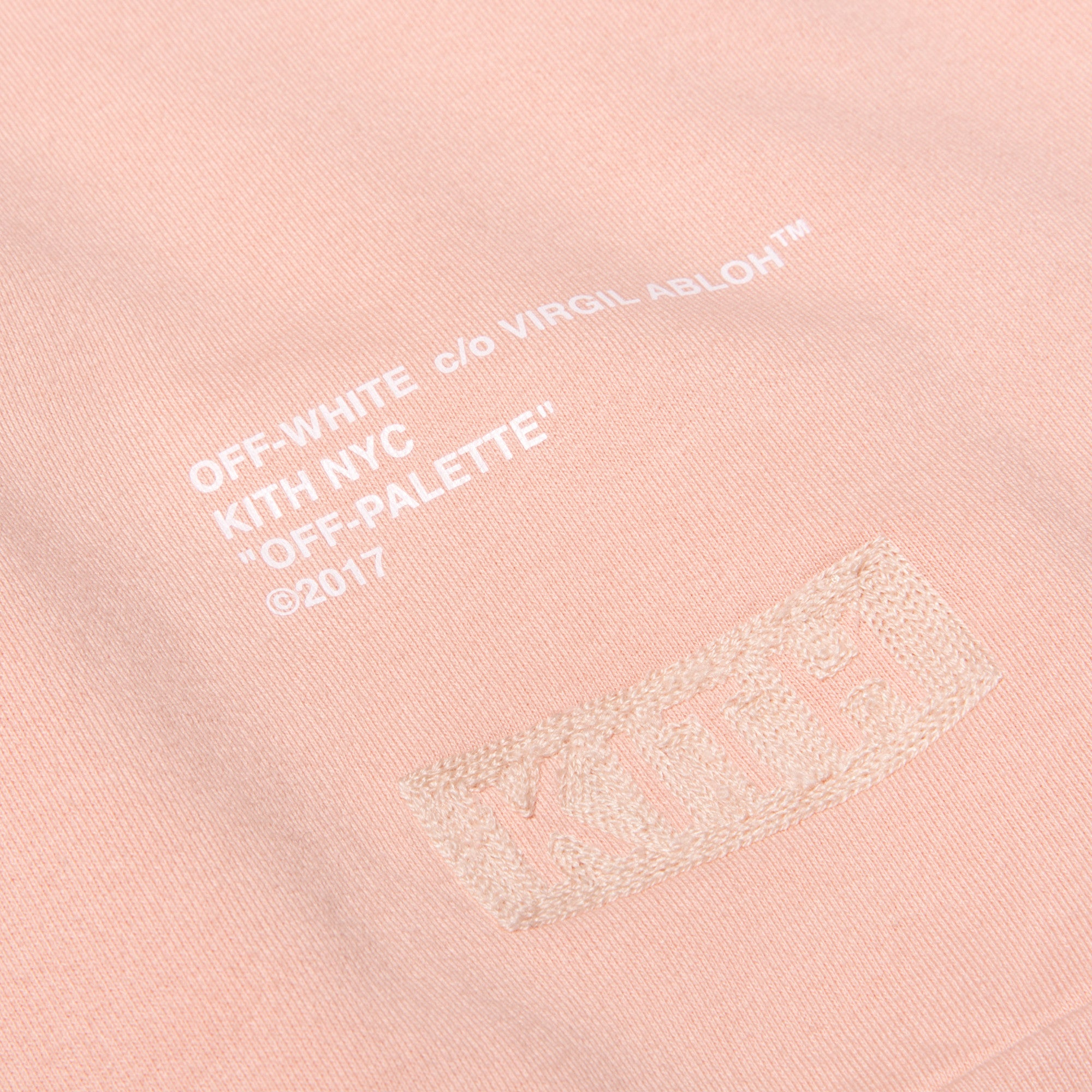 Kith x Off-White Cornely Hoodie - Soft Pink