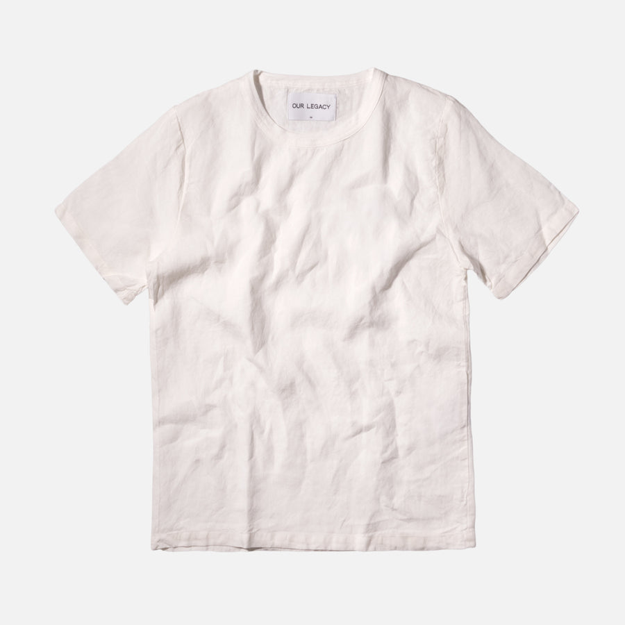 Our Legacy Weaved Tee - White / Linen