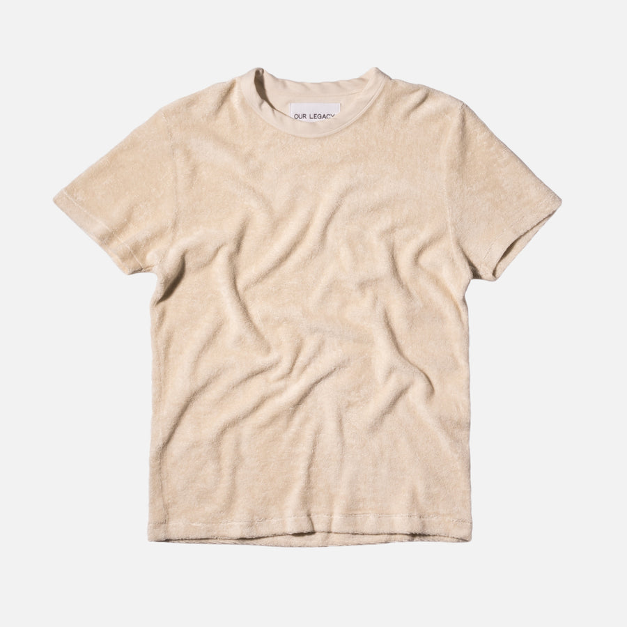 Our Legacy Perfect Tee - Cream / Light Terry