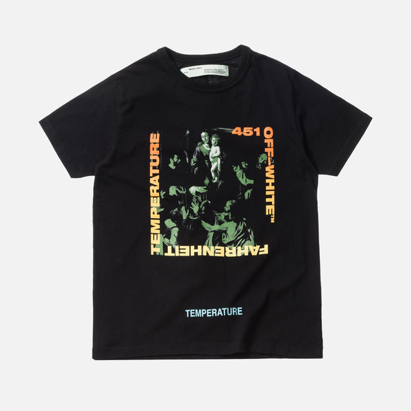 Off-White Gradient Caravaggio Slim Tee - Black / Multi