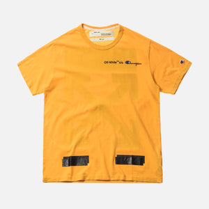 67f50cf9 Off-White x Champion Tee - Yellow / Black – Kith