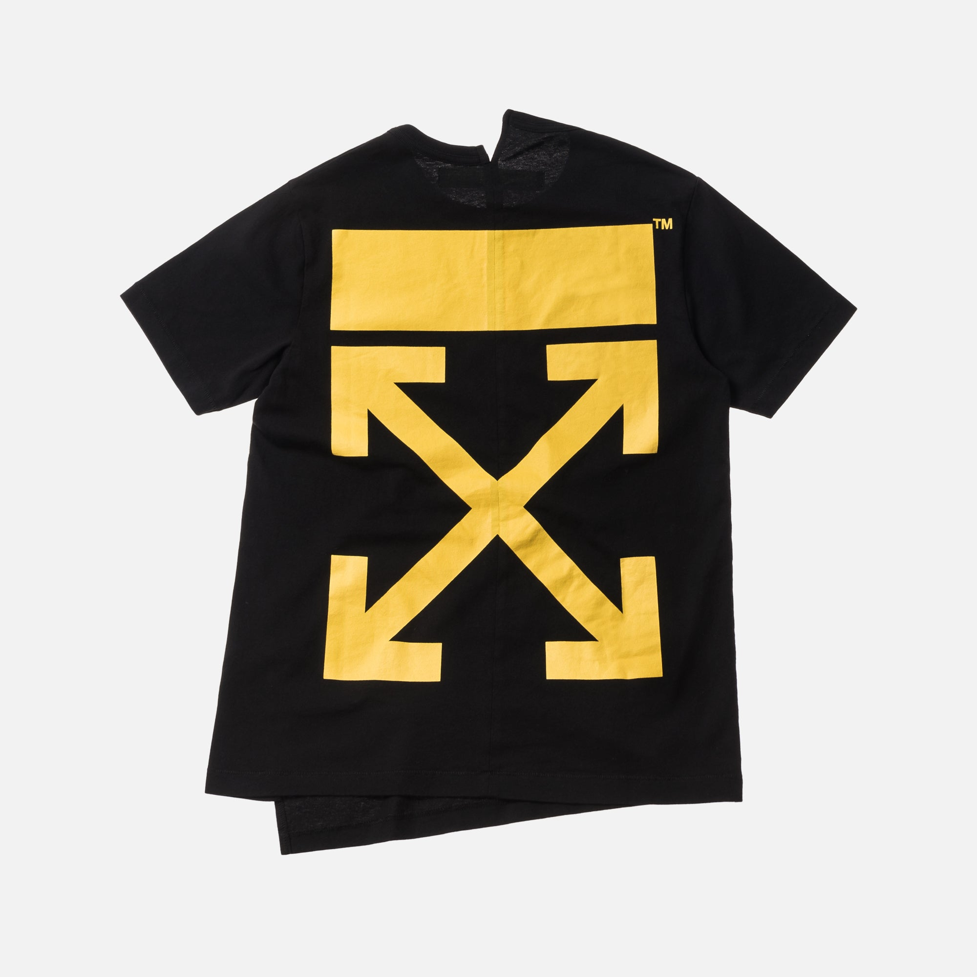 Off-White Moto Spliced Tee - Black / Yellow