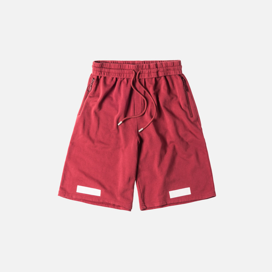Off-White Diagonal Arrows Shorts - Bordeaux