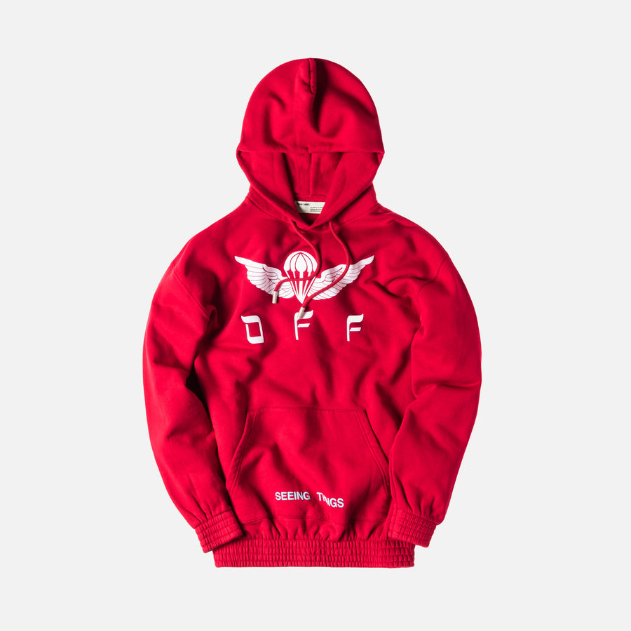 Off-White Parachute Over Hoodie - Red / White