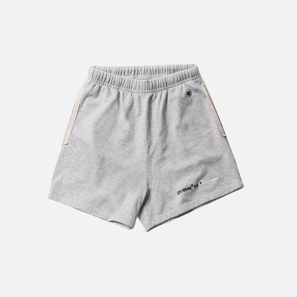 Off-White x Champion Shorts - Melange Grey / Black