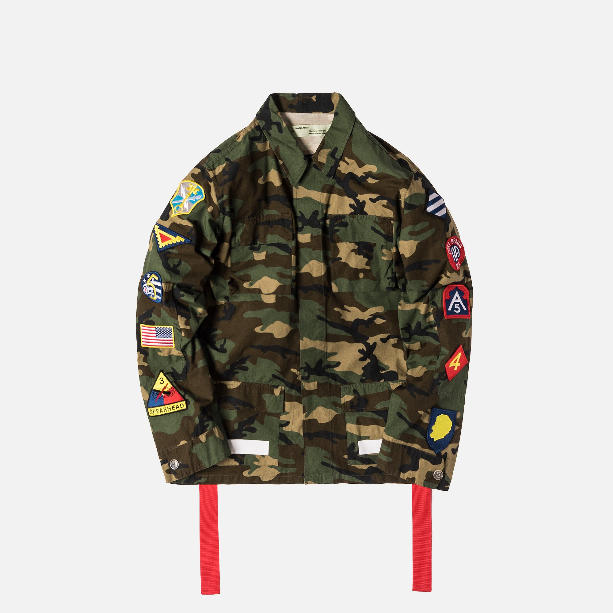 Off White Archive Field Jacket Camo All Over White