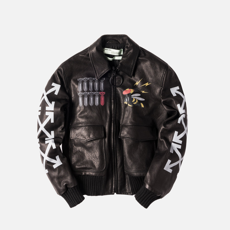 Off-White Aviator Airbrushed Bomber - Black / Multi