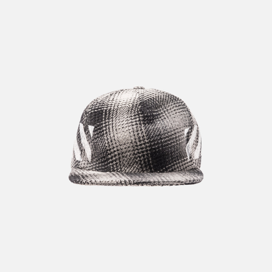 Off-White Diagonal Check Cap - Black / White