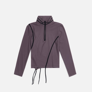 Ottolinger Ski Top L/S With Straps- Taupe / Black