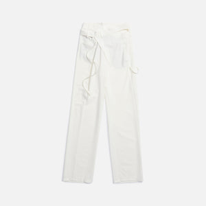 Ottolinger Signature Wrap Suit Trousers - Pearl