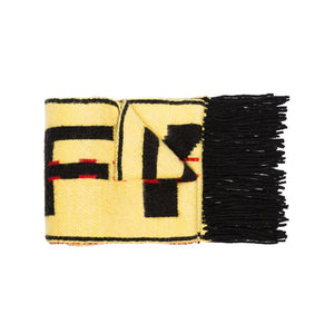 Off-White Knit Industrial Scarf - Yellow / Black
