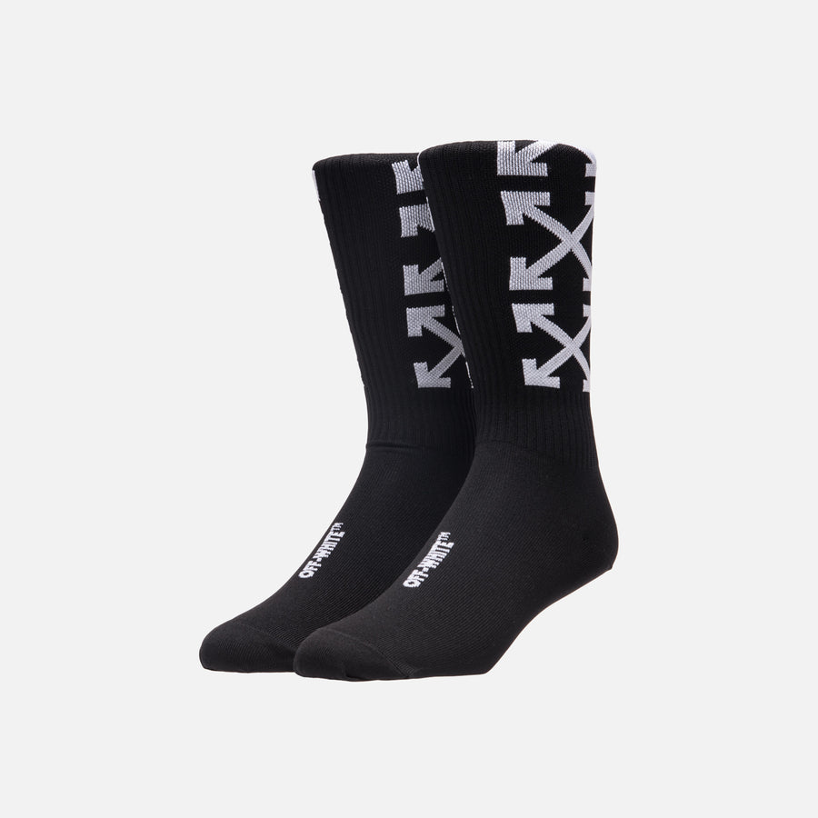 Off-White Arrows Socks - Black / White